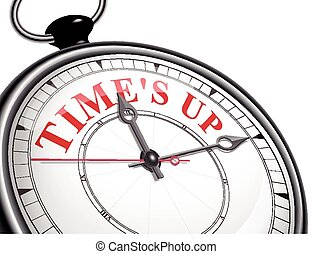 time is up concept clock