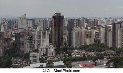 time lape pan shot Curitiba Skyline