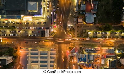 Time lapse aerial view to crossroads, Kharkiv - Time lapse ...