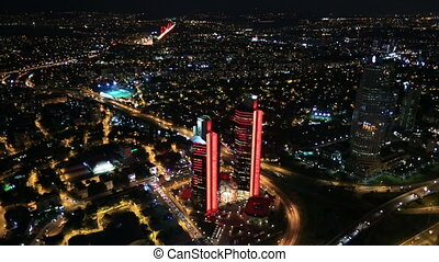 time lapse aerial wiev istanbul