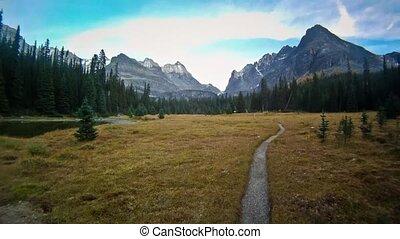 Time Lapse Along A Mountain Trail