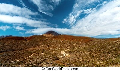 Time Lapse, Amazing View Of The Pico Del Teide Volcano, Tenerife, Spain