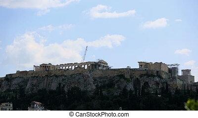 time lapse Ancient Acropolis