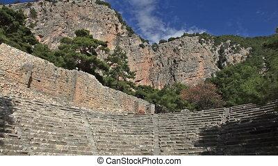time lapse Ancient Amphitheater