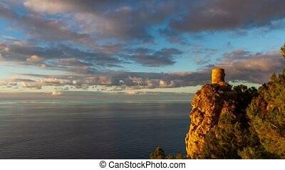 Time lapse at sunset near Torre del Verger, Majorca - Time ...