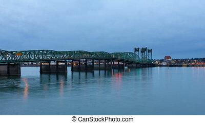 Time Lapse Auto Traffic on Bridge