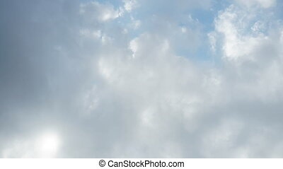 Time lapse Beautiful Rolling Clouds mover sky background