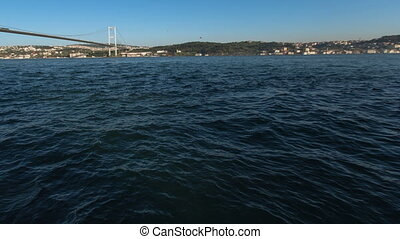 Bosporus Bridge - time lapse Bosporus Bridge at istanbul...