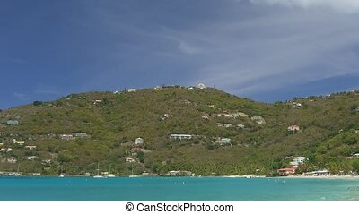 Time lapse Cane Garden Bay on Tortola, British Virgin...