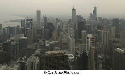 Time lapse Chicago skyline sunset