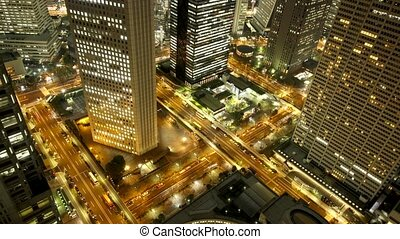 Tokyo night - Time lapse clip of Tokyo night