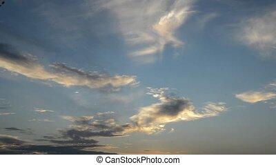 dusk - time lapse cloud dusk