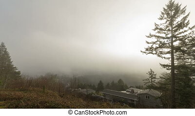 Time Lapse Clouds and Fog 1080p - Time Lapse Movie of Fast...