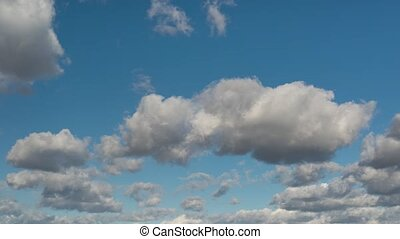 Time Lapse clouds and sky - Time Lapse - beautiful white and...