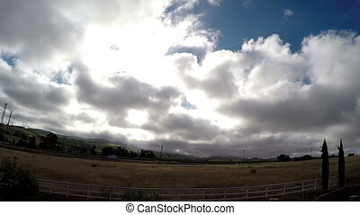 Time lapse clouds in Cali Napa