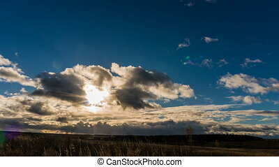 time lapse clouds in the sunset, 4k - time lapse clouds in...