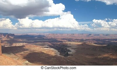 Time lapse clouds over Canyonlands NP