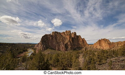Time Lapse Clouds Over Smith Rock - Time Lapse Movie of...