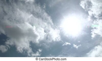 time lapse clouds over sun - Fast-moving time lapse clouds...