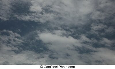 Time Lapse Cloudy Blue Sky High Definition - Cloudy blue sky...