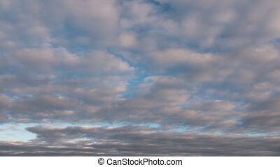 Time lapse cloudy morning sky, nature background