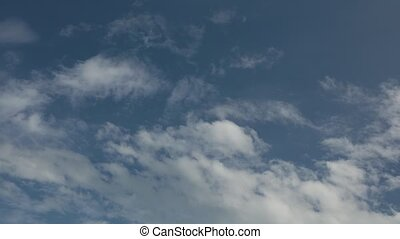 Time Lapse Cloudy Sky High Definition - Cloudy blue summer...
