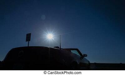 Time lapse convertible sun rising - Time lapse of sun rising...