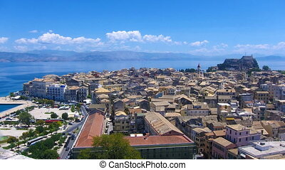 Time lapse: Corfu city at midday
