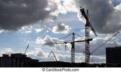 Time Lapse Crane Construction
