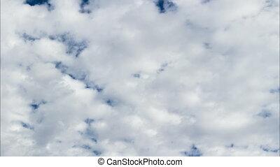 Time Lapse Cumulus Clouds Blue Sky