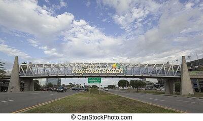 Time lapse Daytona Beach welcome si