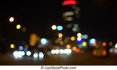 Time lapse defocus car headlights and tail lights - Time...