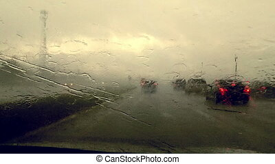 Time Lapse Driving in Rain