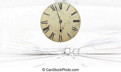 Time Lapse fast moving clock painte