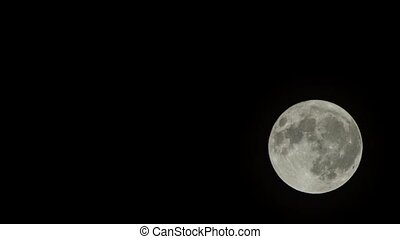 Time Lapse Full Moon at 560mm