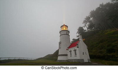 Time Lapse Heceta Head Lighthouse - Ultra High Definition...
