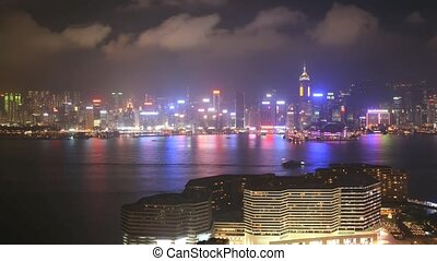 Time lapse Hong Kong Island - Time lapse view to Hong Kong...