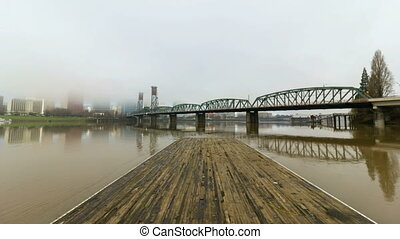 Time Lapse in Downtown Portland OR - Time Lapse Movie of...