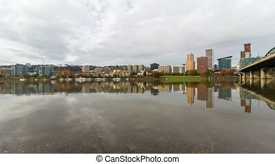 Time lapse in Portland OR autumn