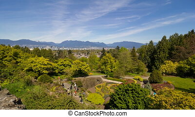 Time Lapse in Queen Elizabeth Park - Time Lapse Movie of...