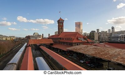 Time lapse in Union Station Oregon