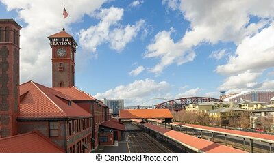 Time lapse in Union Train Station
