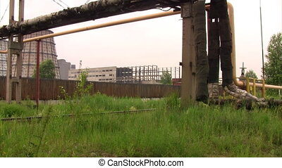 Time lapse industrial area
