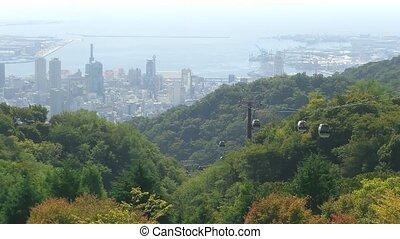 Time lapse Kobe Cable car - Time lapse Kobe Mountains near...