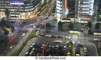 Time lapse Kyoto - Time lapse street nightlife at main...