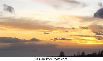Time lapse La Palma - Time lapse trade winds and sunset over...
