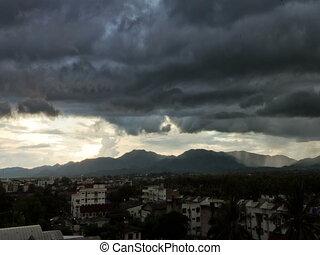 Time lapse Lampang storm