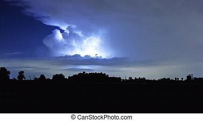 Time lapse lightning storm