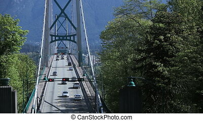 Time lapse Lions Gate Bridge - Time lapse view of Lions Gate...