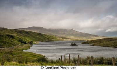 Time Lapse, Loch Portree With View On Old Man Of Storr,...
